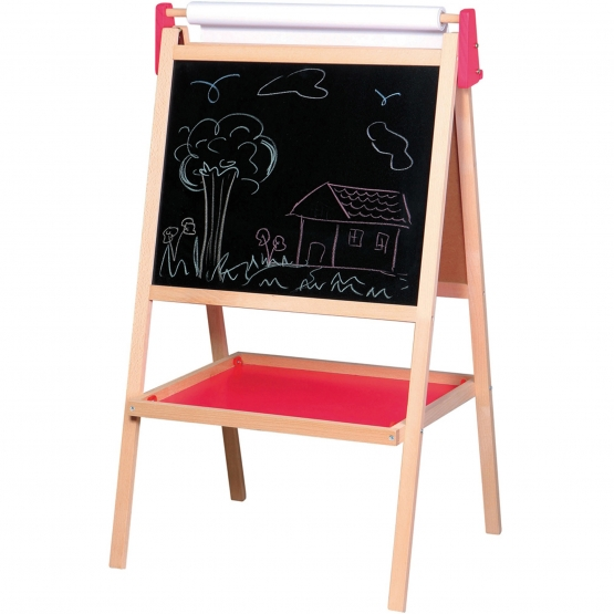 Spielba magnetic board with paper and chalks